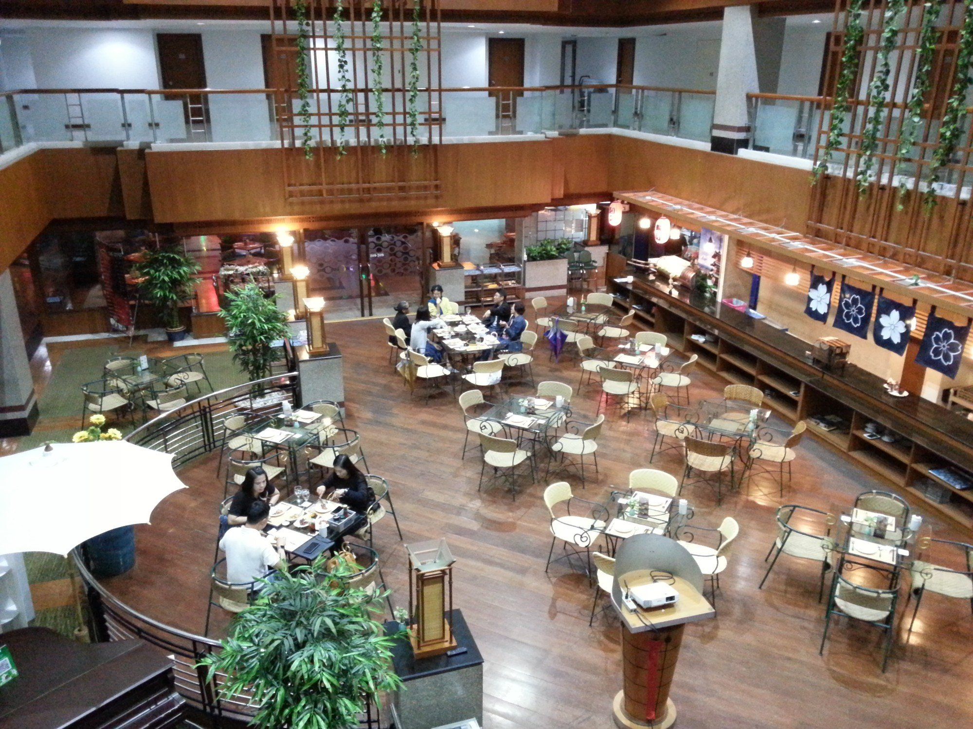 Restaurant area at the Friday Hotel