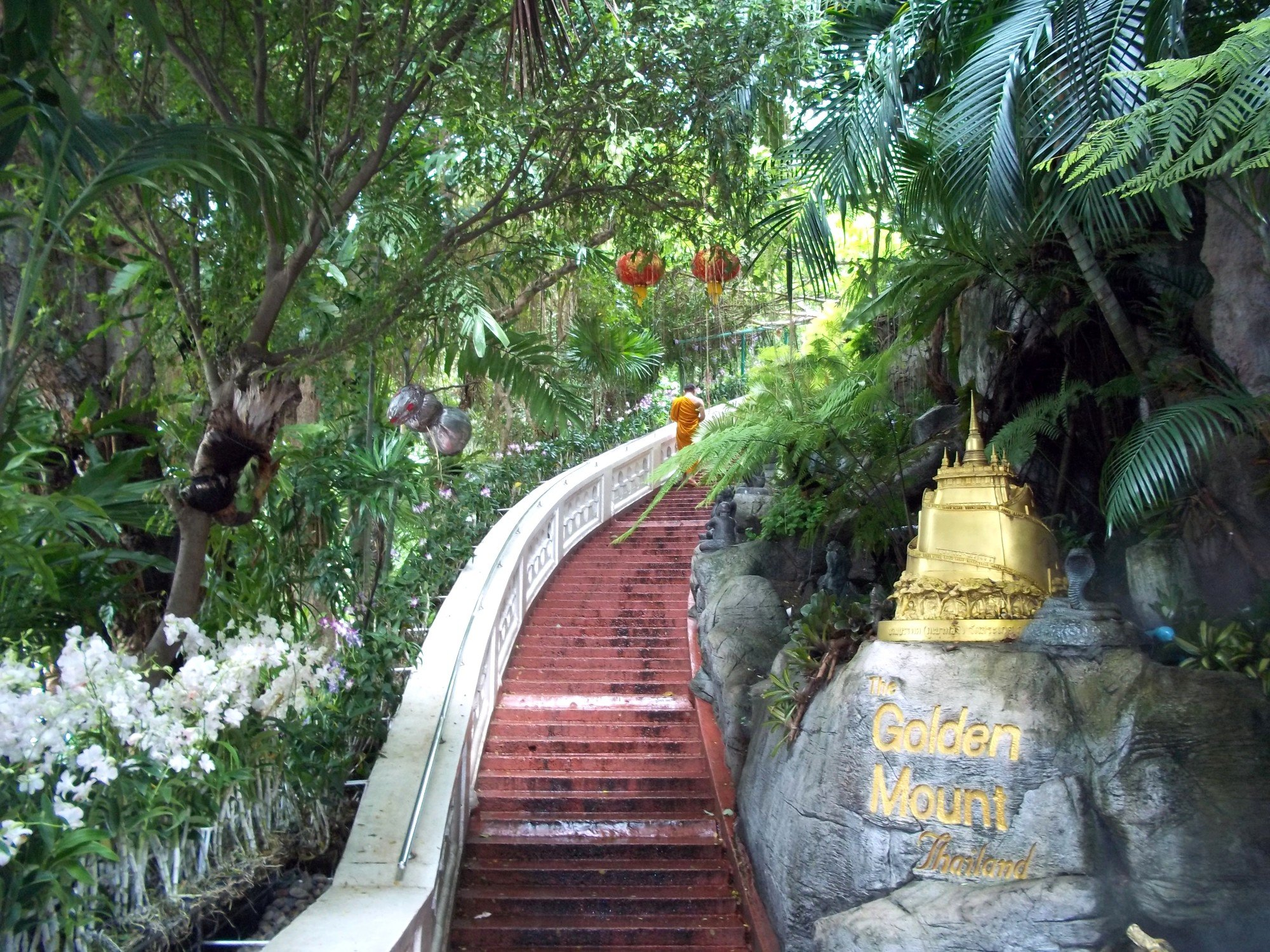 Stairs to the Golden Mount at Wat Saket