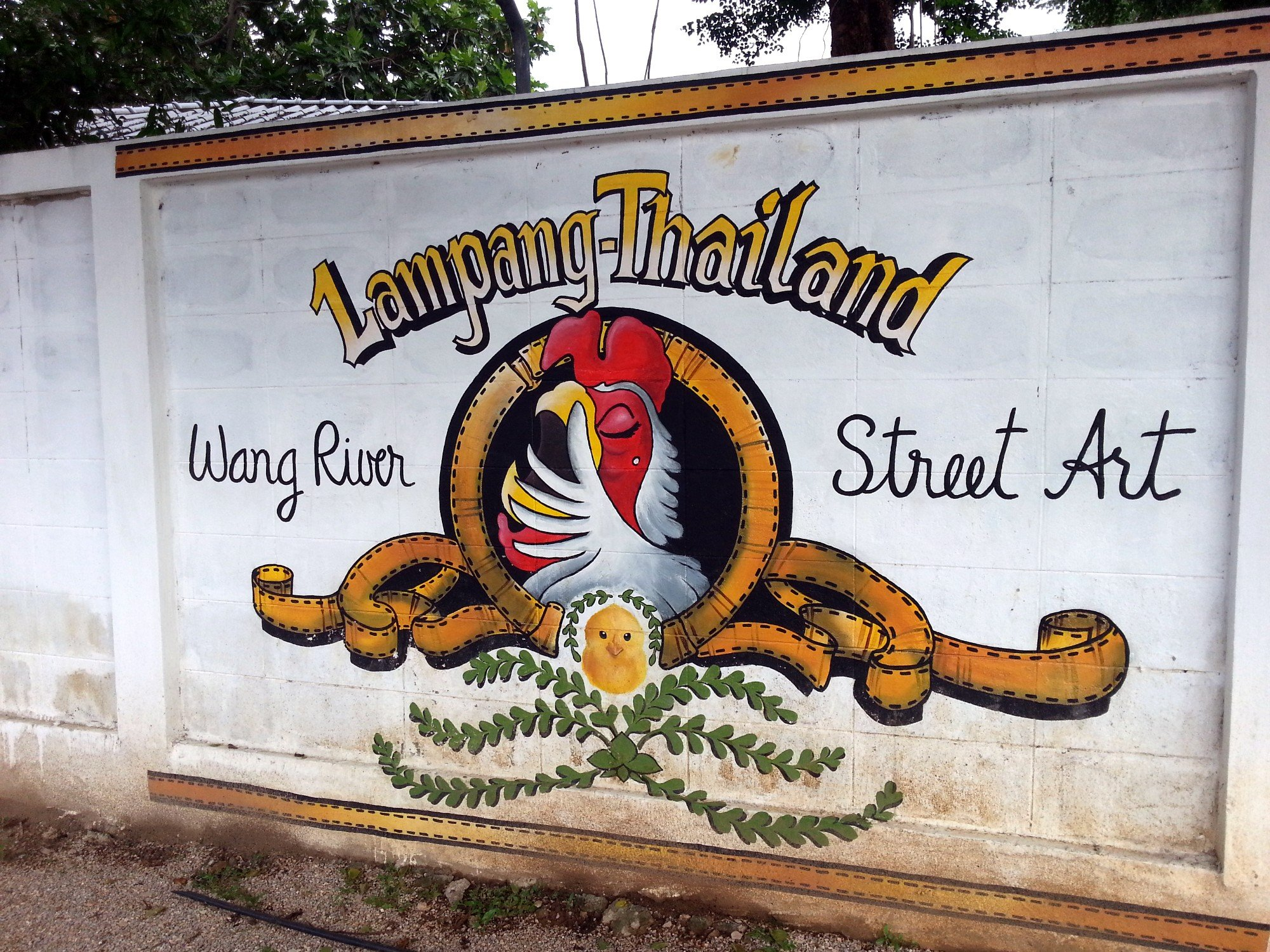 Street Art on the Wang River in Lampang