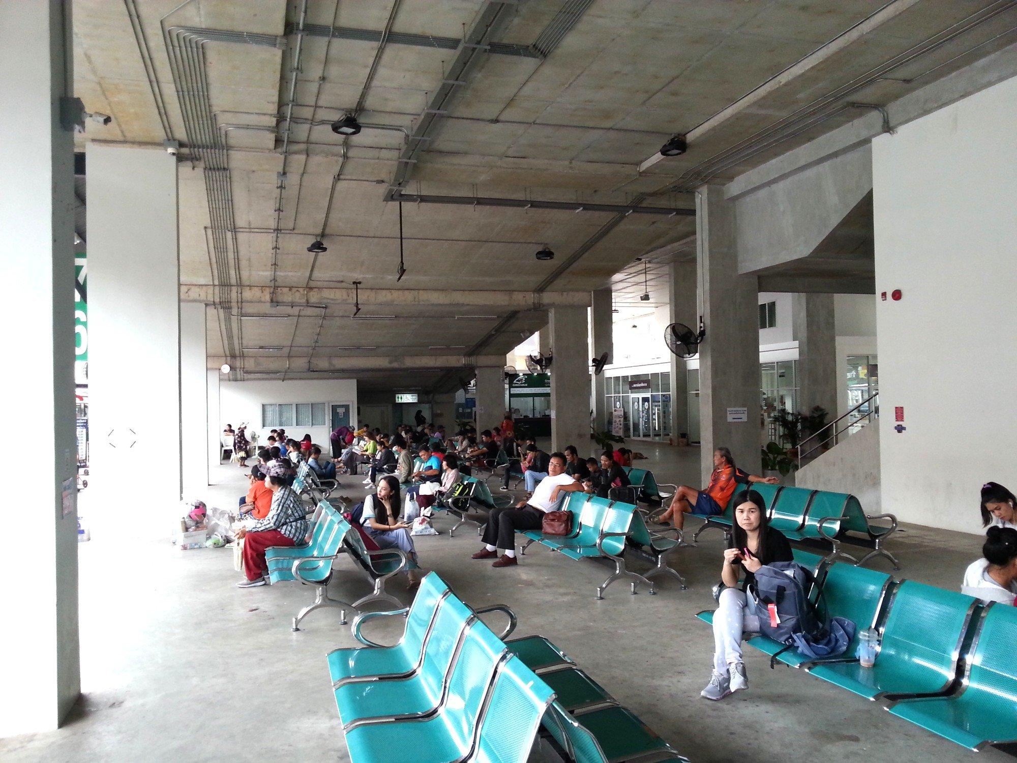 Waiting area at Chiang Rai Bus Terminal 1