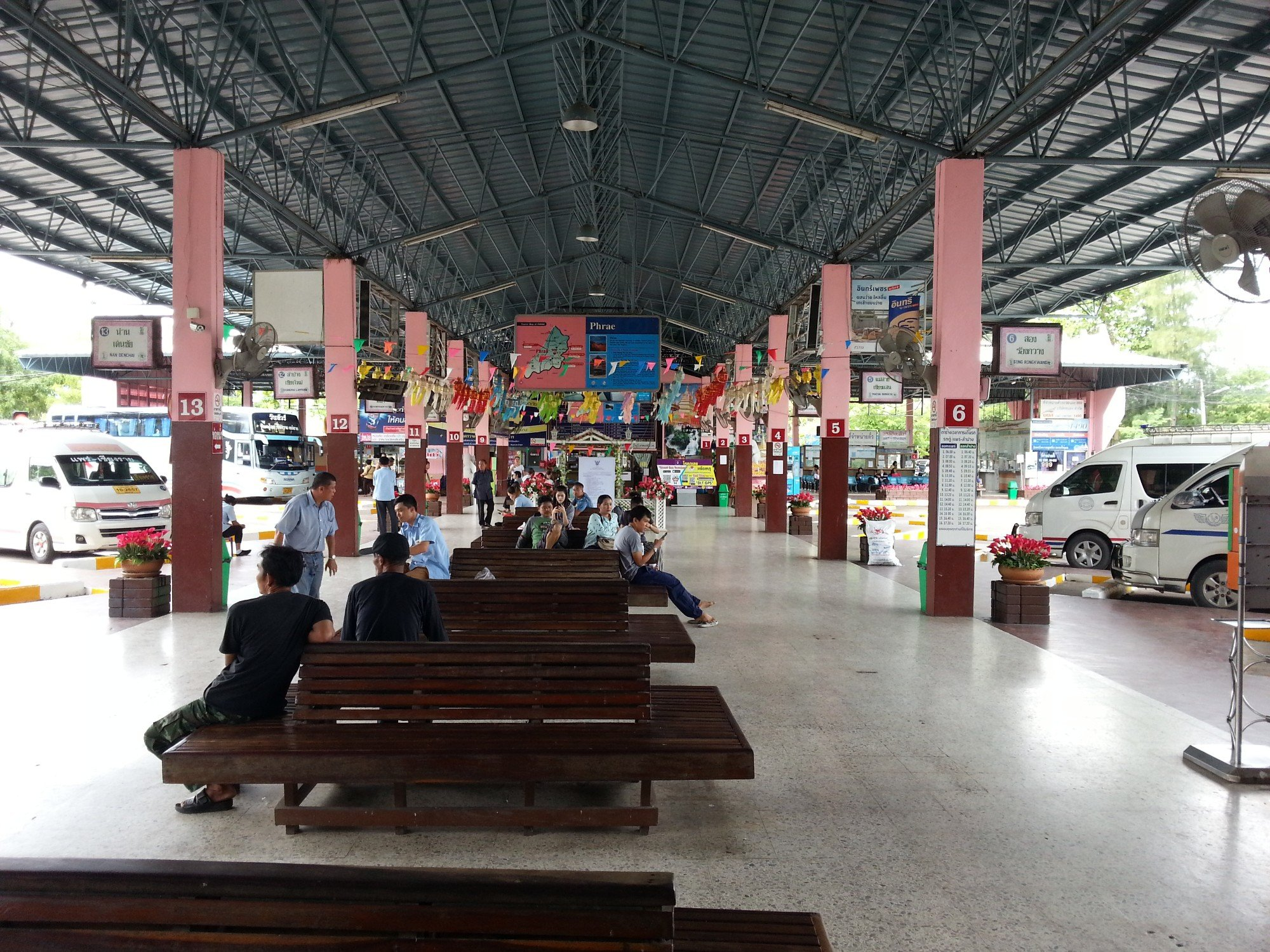 Waiting area at Phrae Bus Station