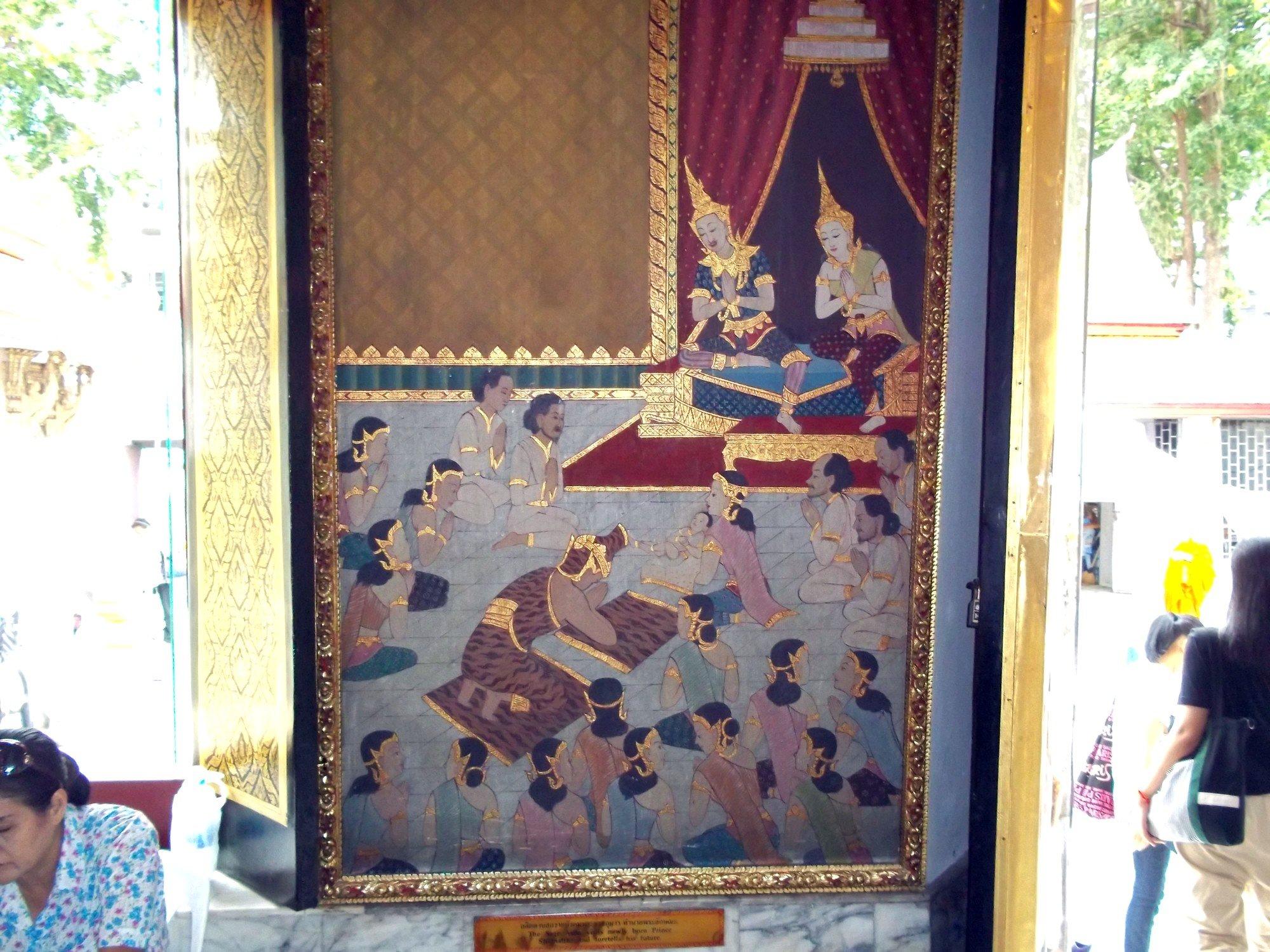 Wall mural at Wat Chana Songkhram