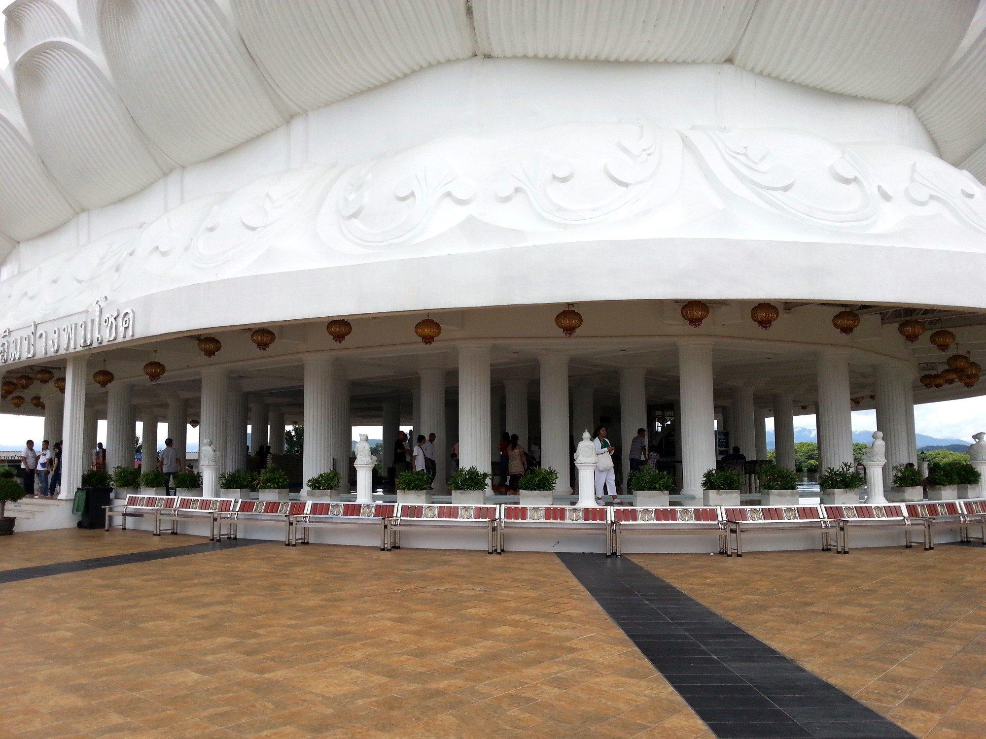Base of the Guan Yin statue at Wat Huay Pla Kang