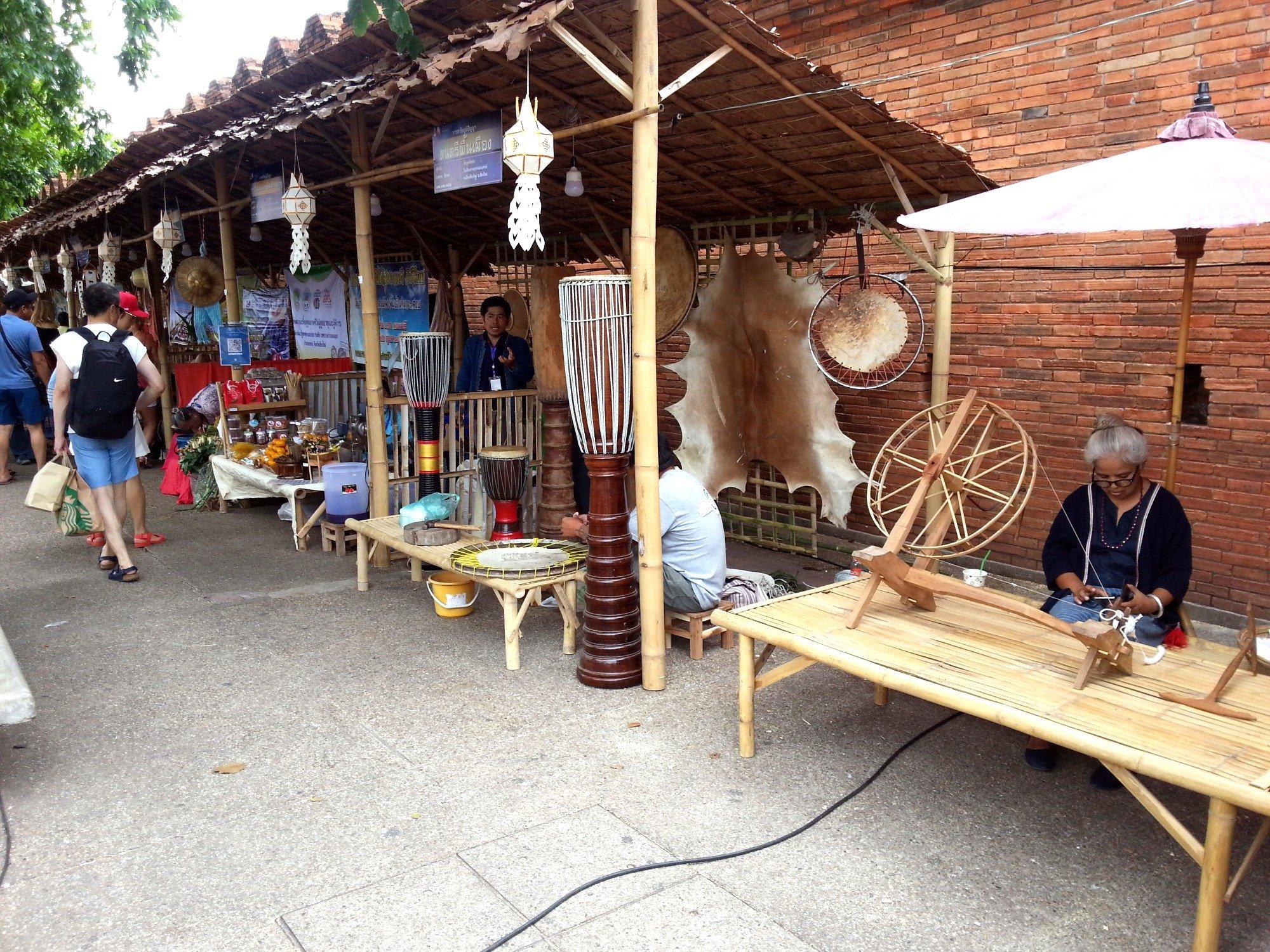 Craft stalls at the Tha Phae Gate