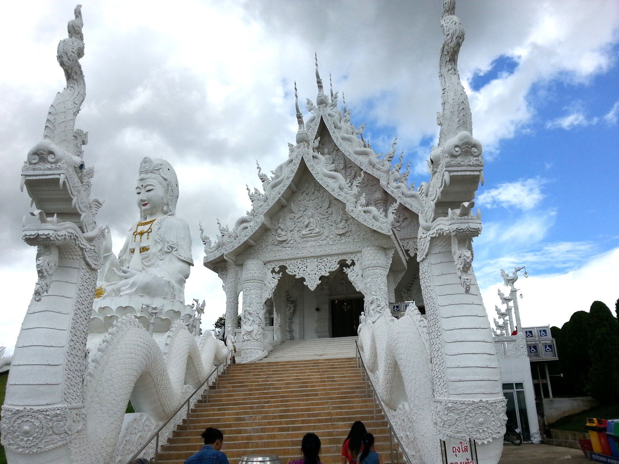 Entrance to the prayer hall at Wat Huay Pla Kang