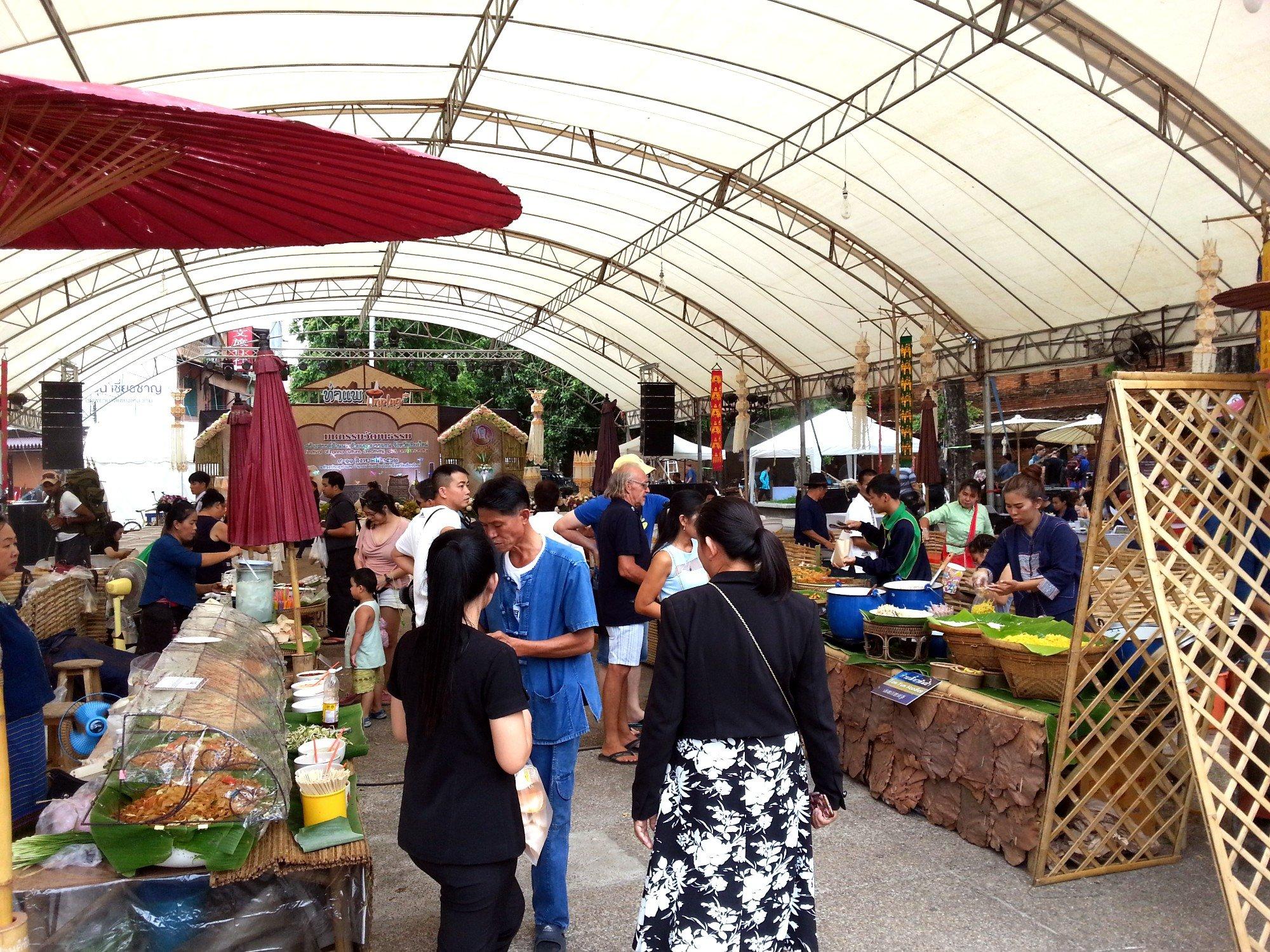 Food Court at the Tha Phae Gate