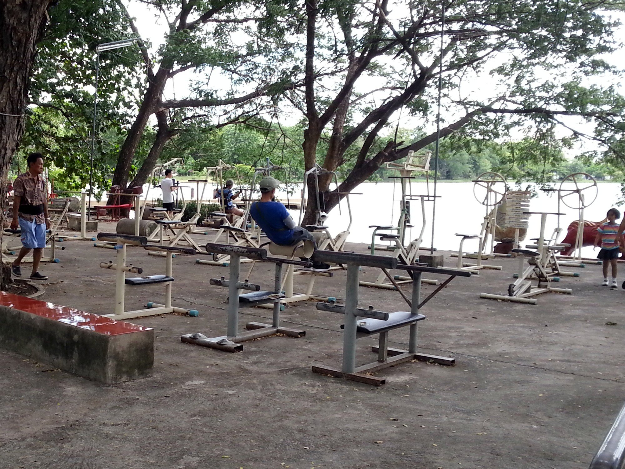 Gym equipment in Paradise Park