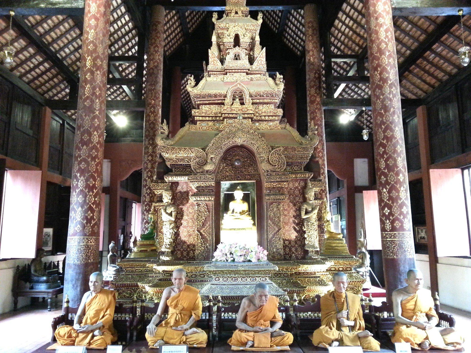 Inside Viharn Luang at Wat Phra Singh
