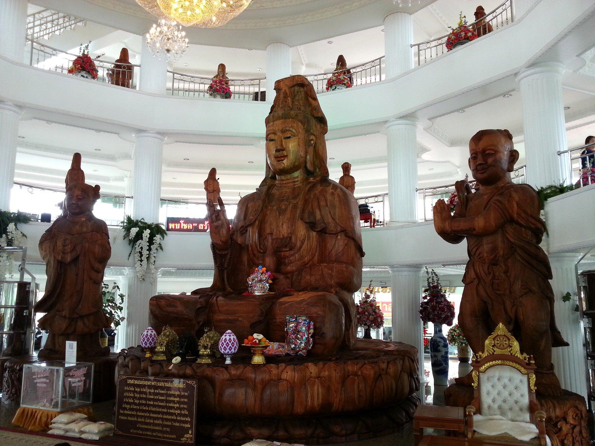 Inside the pagoda at Wat Huay Pla Kang