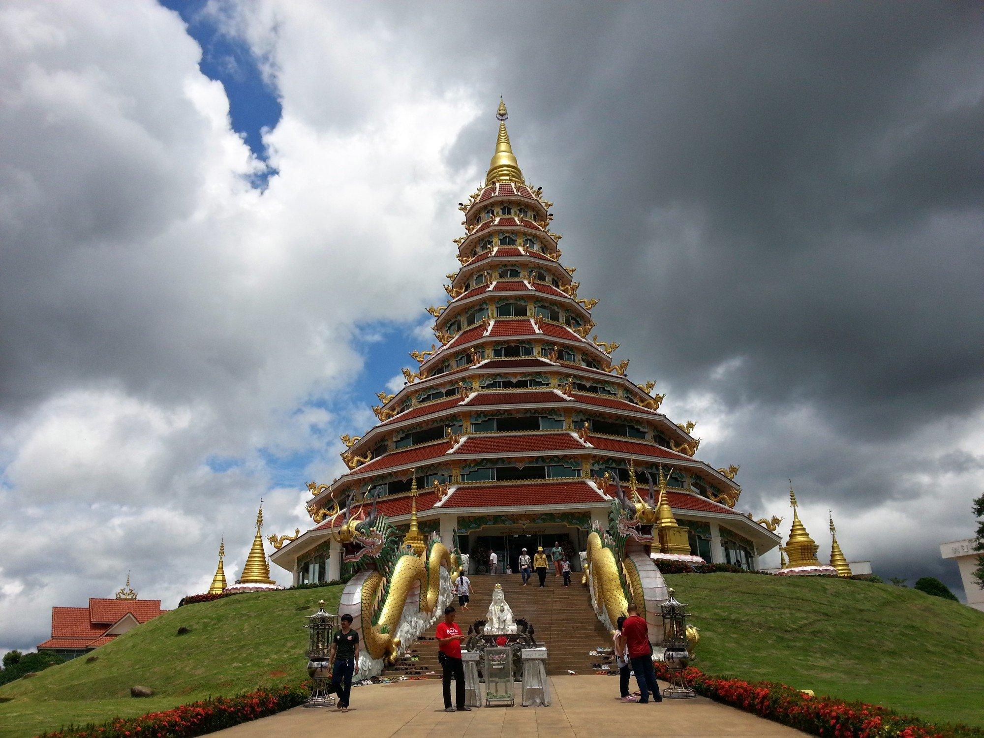 Pagoda at Wat Huay Pla Kang