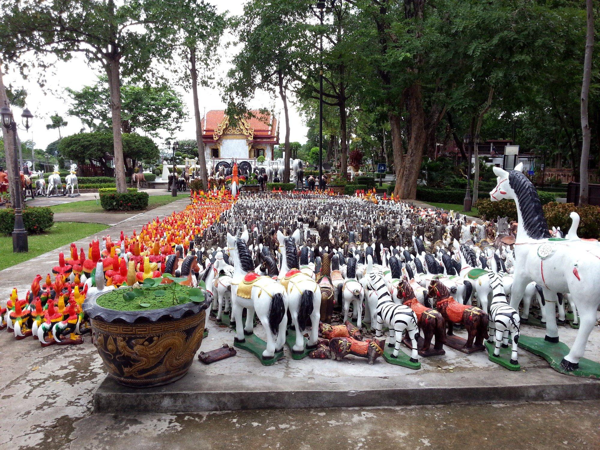 Animal statues at the Taksin Maharat Shrine