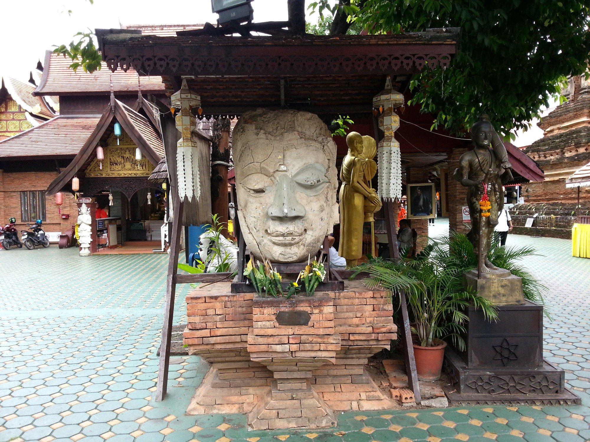 Courtyard at Wat Jet Lin