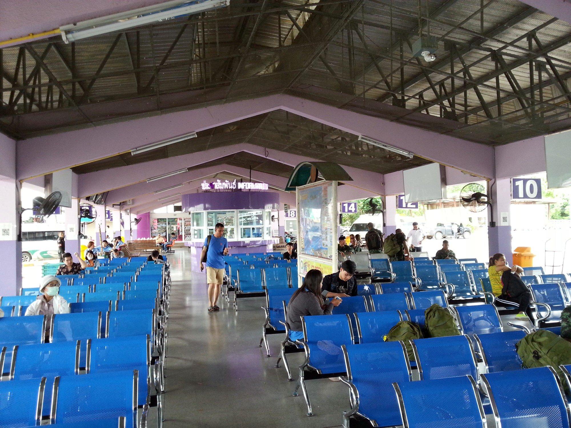 Inside Tak Bus Terminal