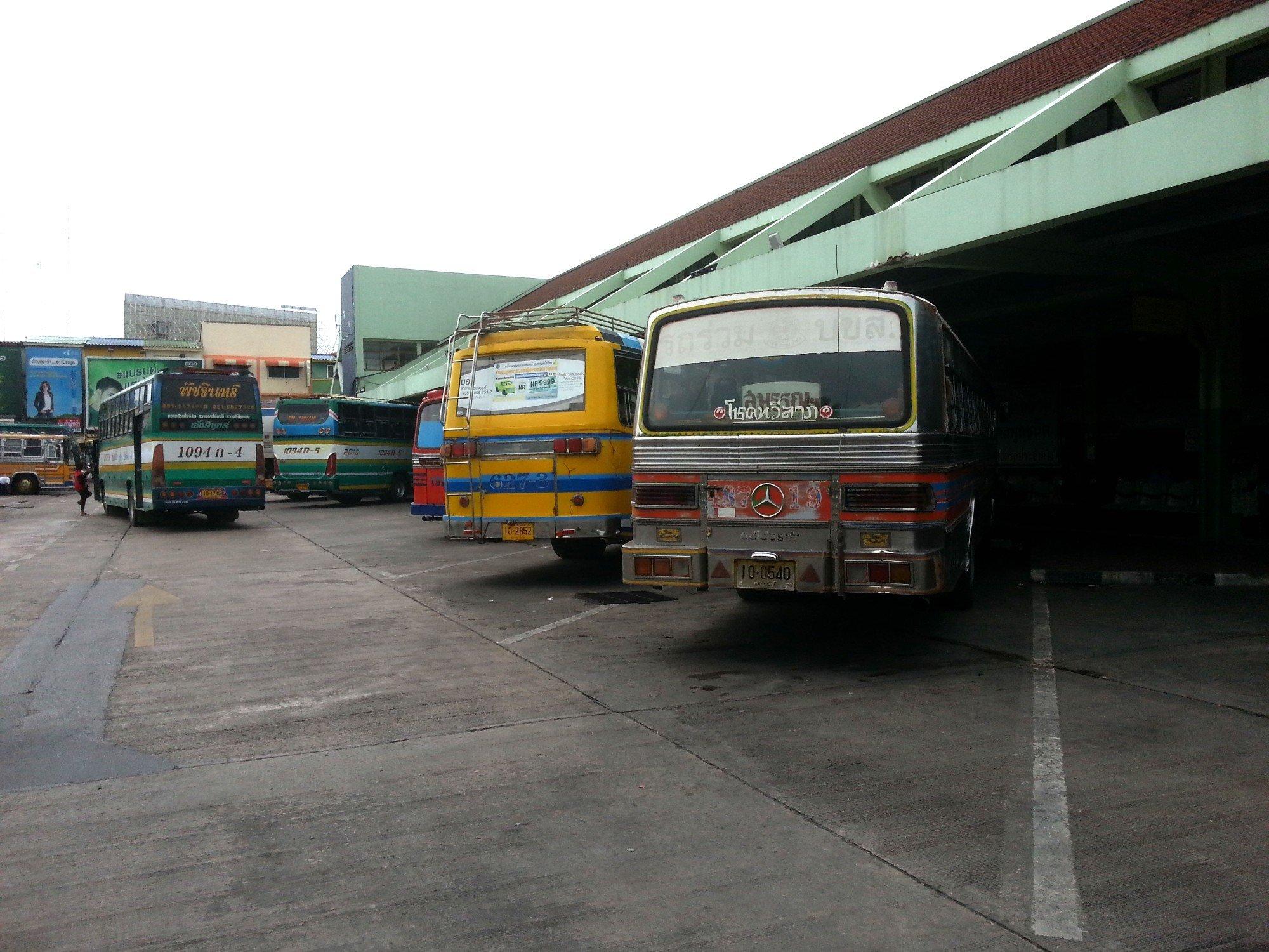 Bus services at Nakhon Sawan Bus Terminal