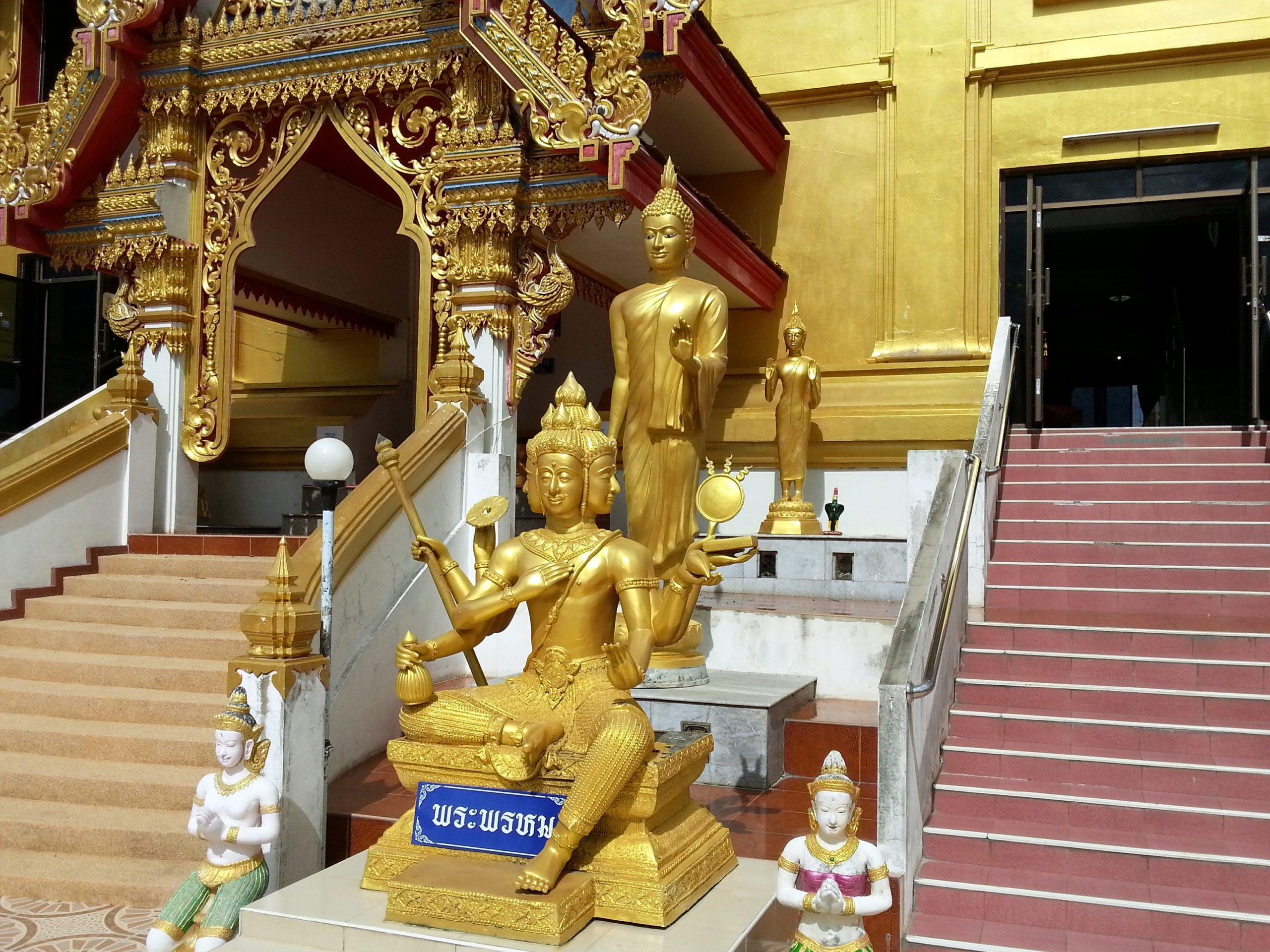 Four faced Buddha at the Phra Chulamanee Chedi