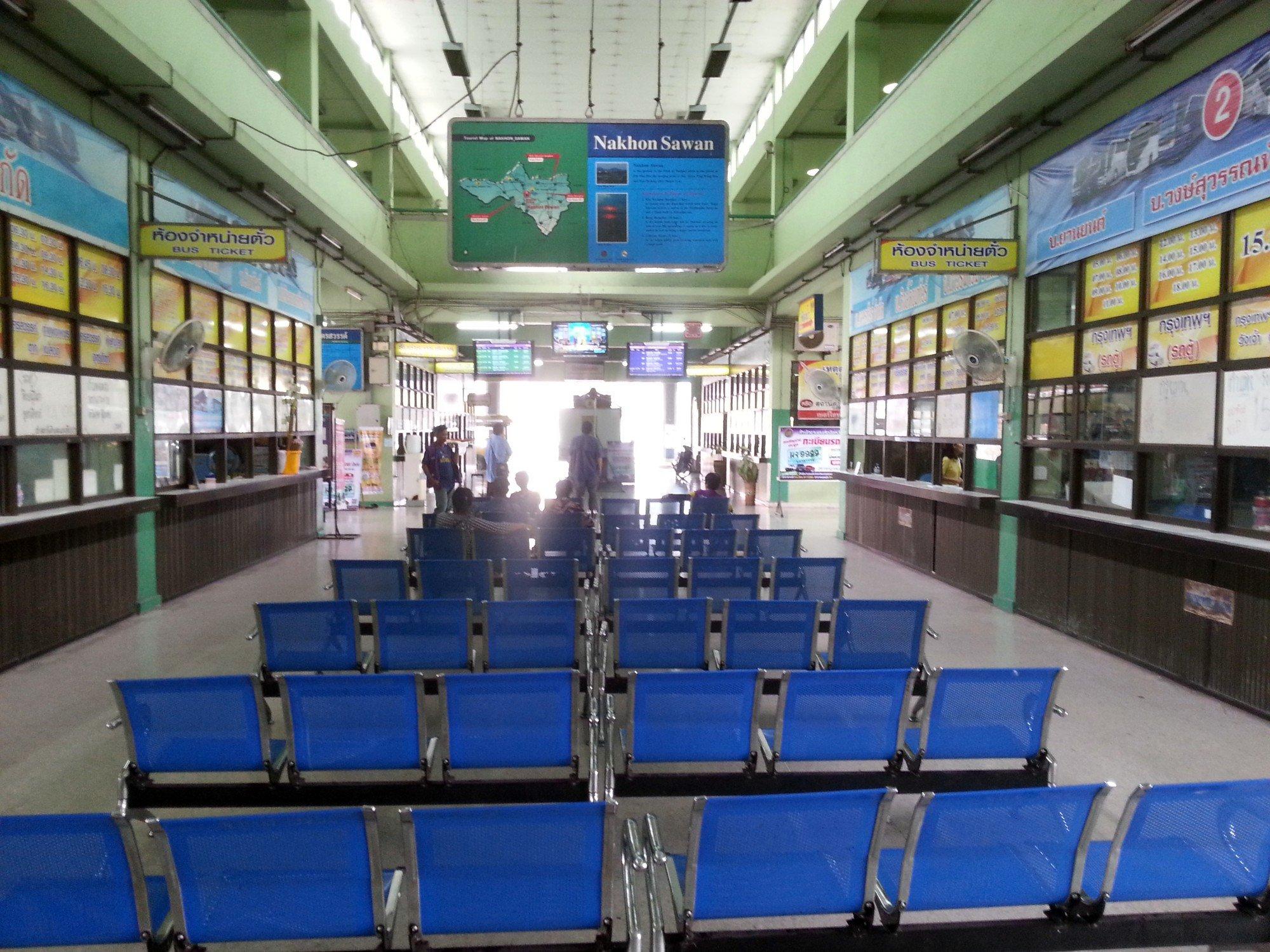 Ticket hall at Nakhon Sawan Bus Terminal