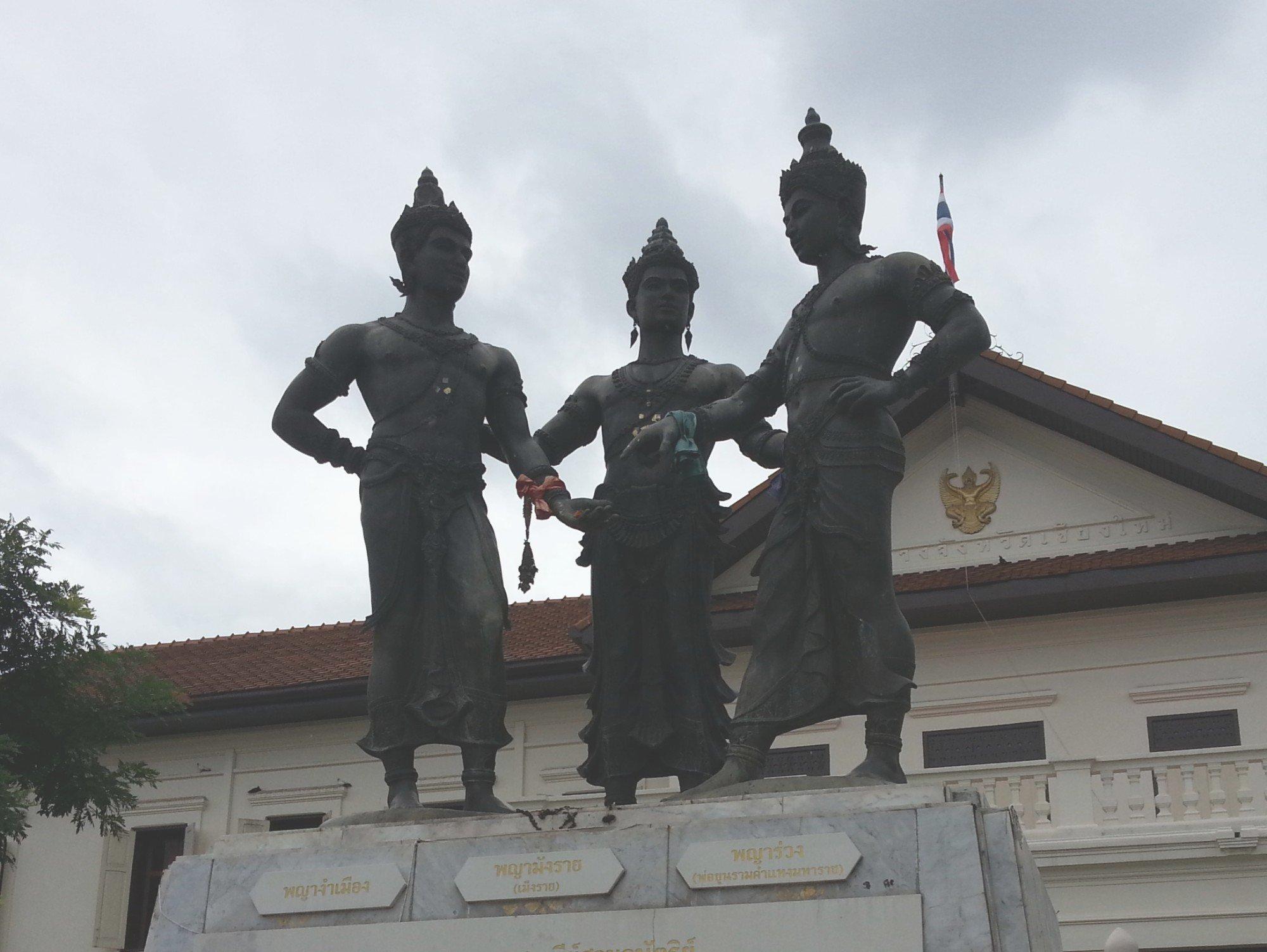 Kings Mengrai, Ramkamhaeng and Ngam Muang