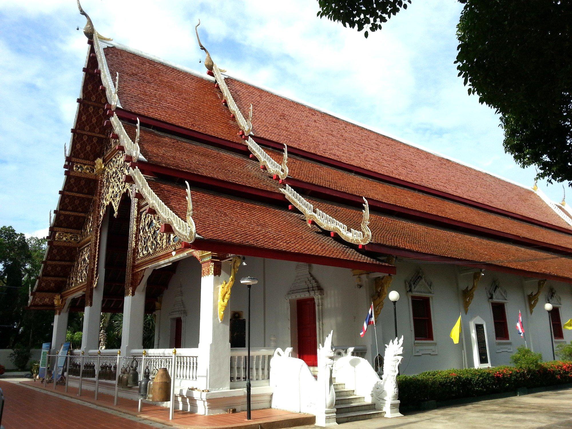 Prayer Hall at Wat Phra Kaew Don Tao