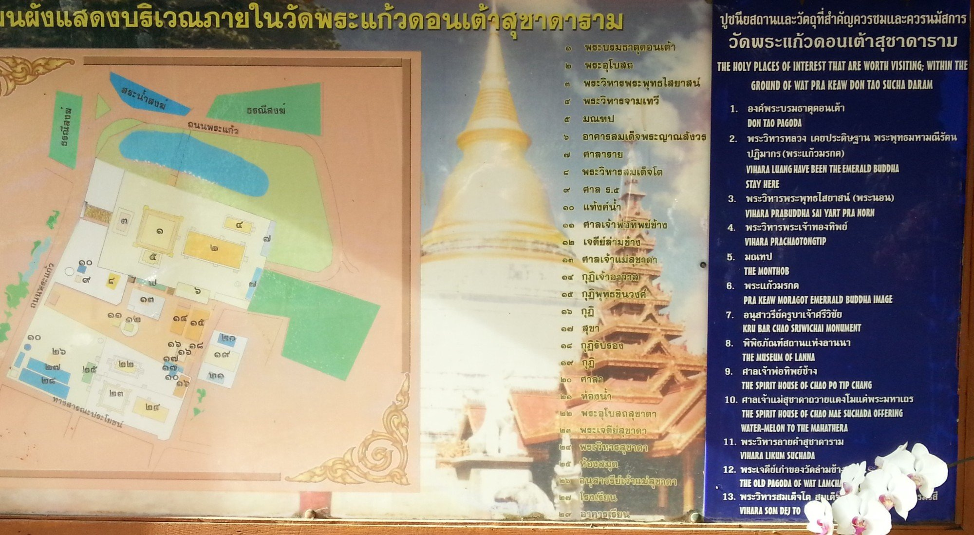 Wat Phra Kaew Don Tao in Lampang