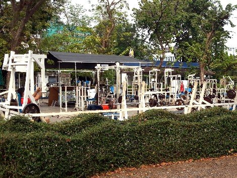 Free gym at Rommaninat Park