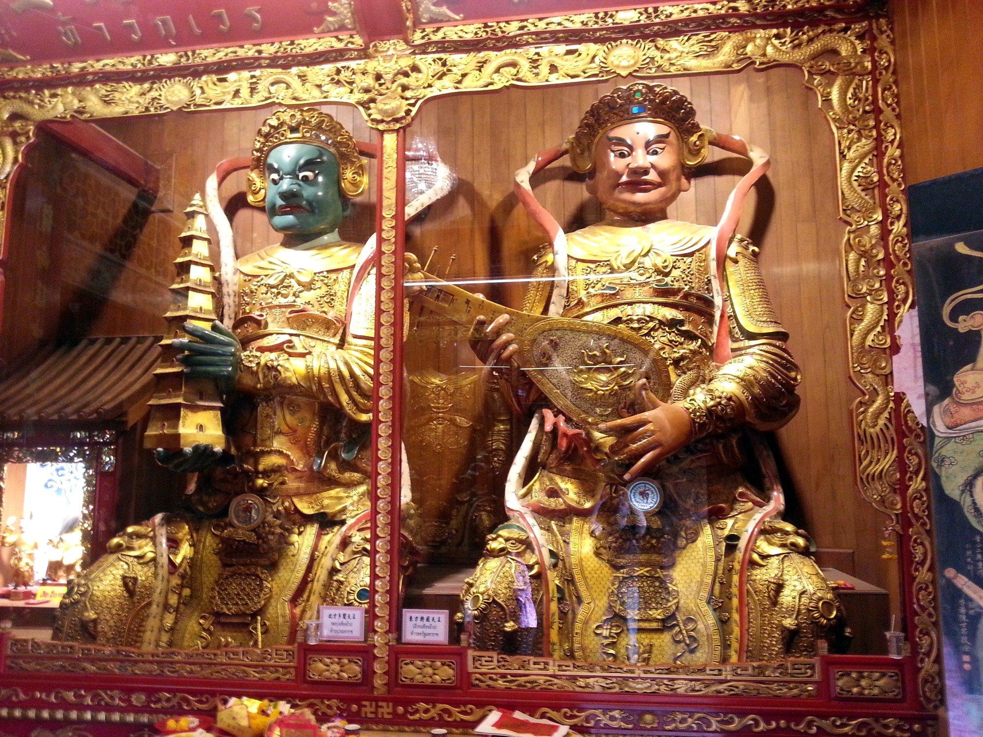 Heavenly Kings at Wat Mangkon Kamalawat