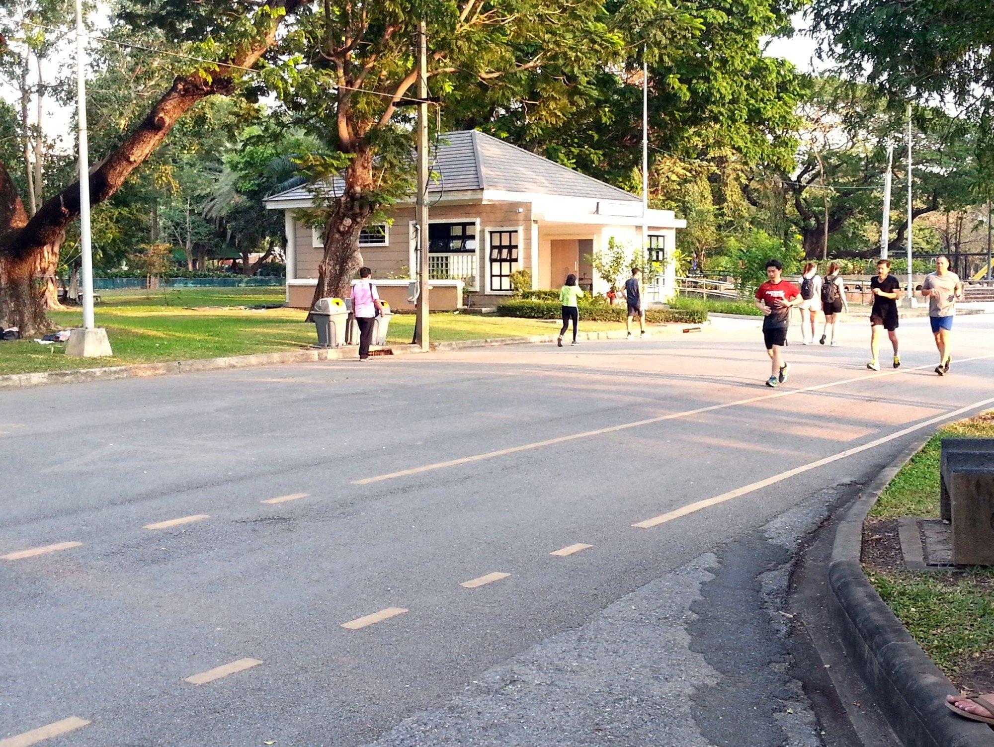 Joggers at Lumphini Park